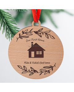 Personalized First Home Ornament or 1st Apartment Ornament