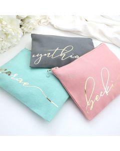 Personalized Makeup Bag/Bridesmaid Makeup Bag
