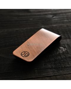 Personalised Handcrafted Solid Heavyweight Copper Money Clip