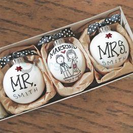 MR.& MRS. Customized ORNAMENT SET