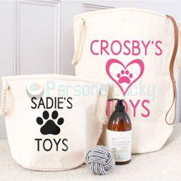 Customized Dog Toys Storage Bag Toy Basket