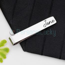 Personalized Multiple Colors Metal Tie Clip