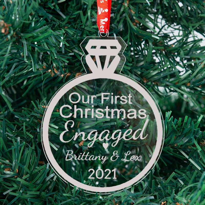 First Christmas Gift for Couple 2021 Diamand Ornament