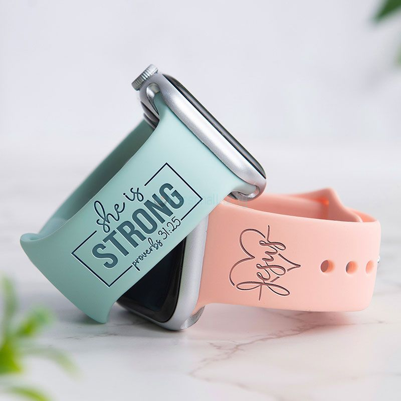She is Strong Proverbs 31:25 Christian Watch Band