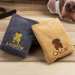 Personalized Embroidered dog towel