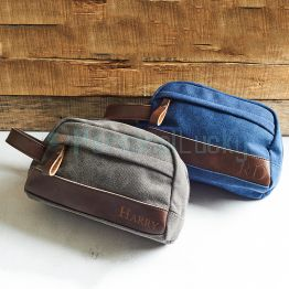 Mens Gift Personalized Toiletry Bag